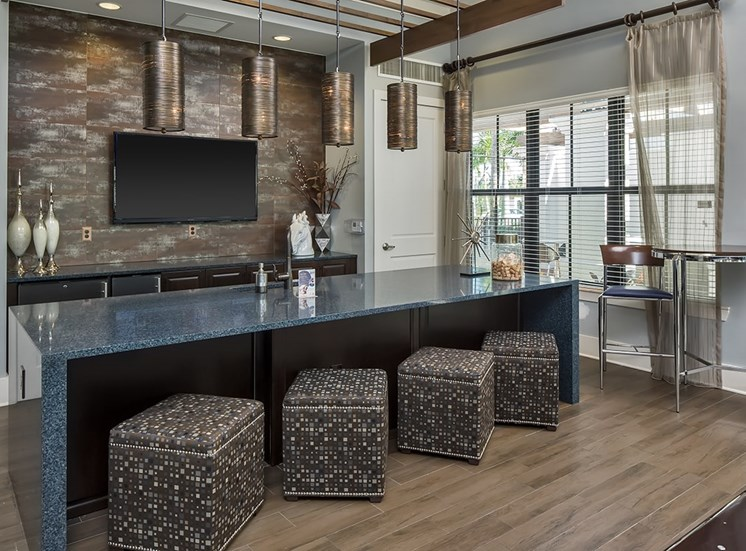 2940 Solano at Monterra apartments social lounge in Cooper City, Florida