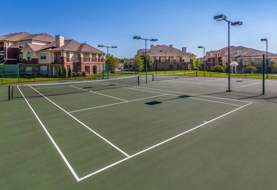 Tennis court Village on Spring Mill in Carmel, IN