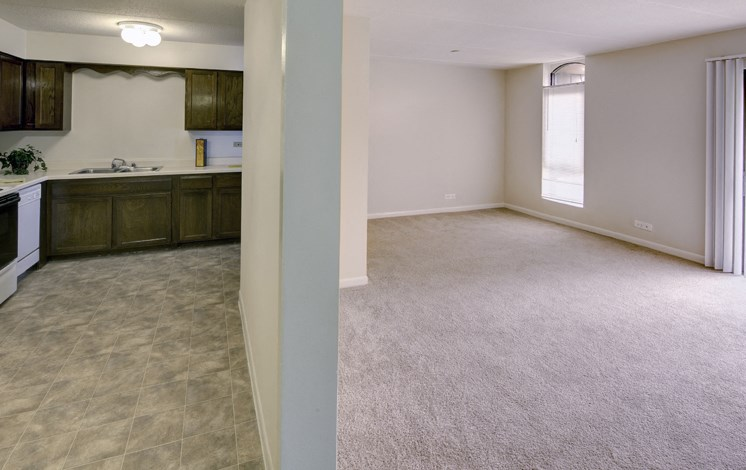 Apartments in Waukegan, IL kitchen and living