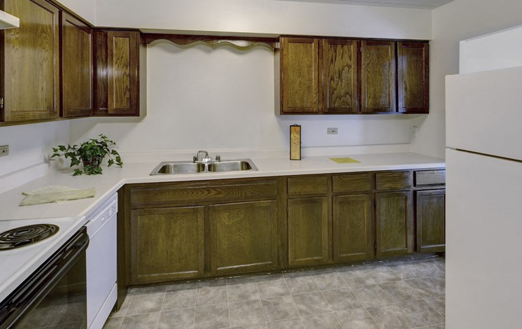 Apartments in Waukegan, IL cabnets