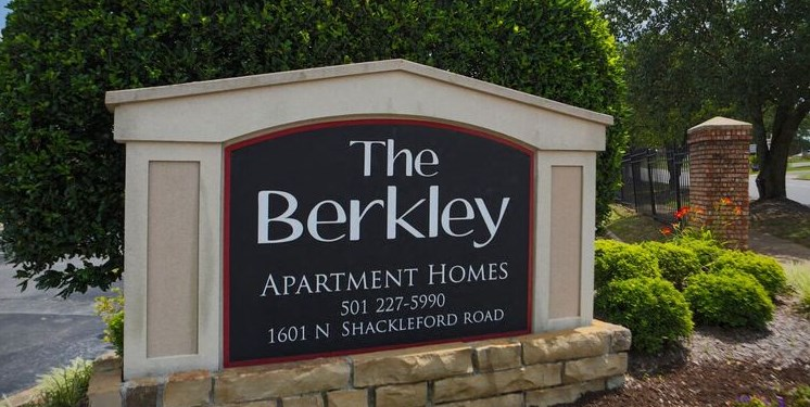 Sign for The Berkley Apartments in Little Rock