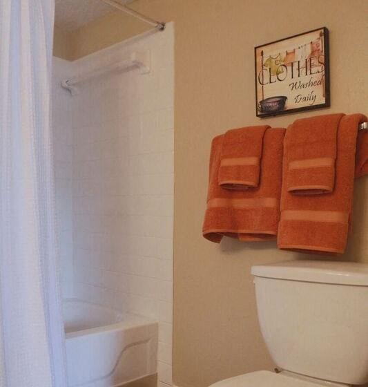 Bathroom in Berkley Apartments in Little Rock, AR