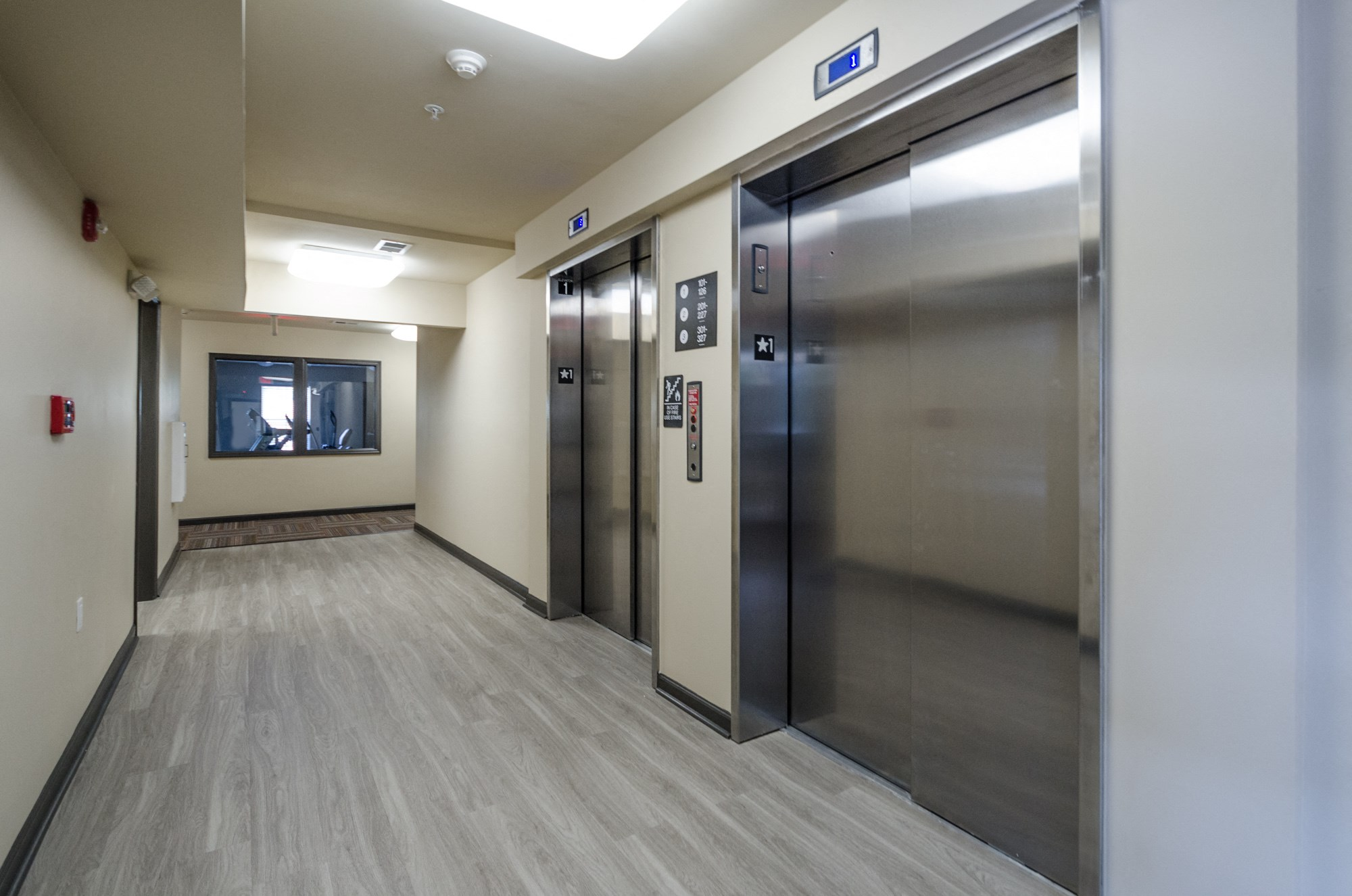 large elevator in hallway
