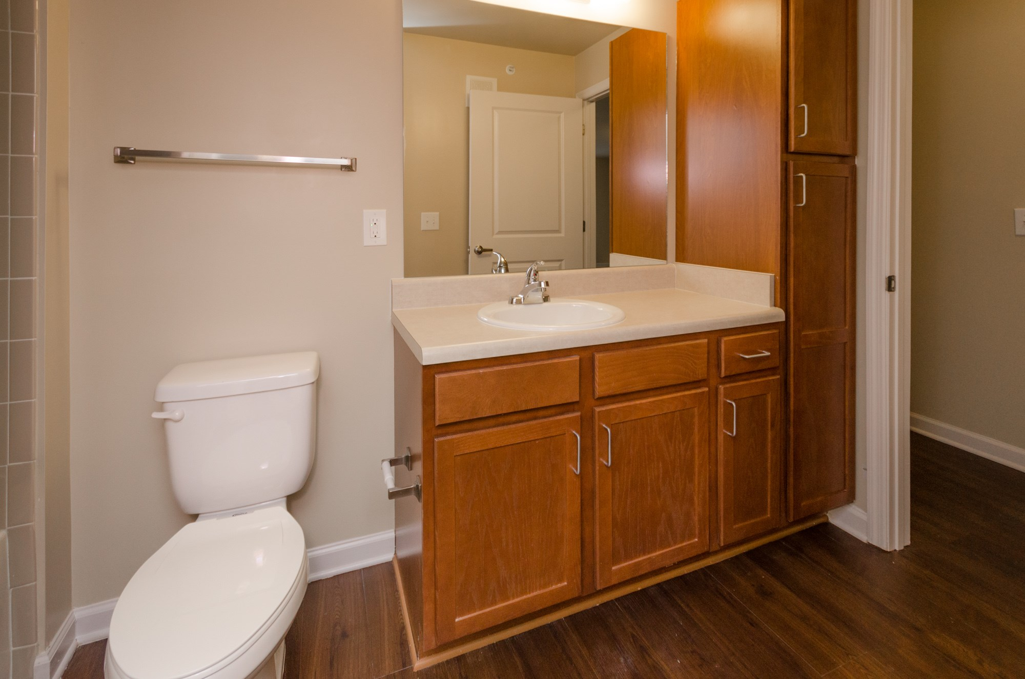 cabinets in bathroom