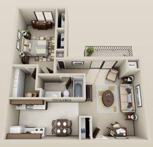1 bdrm. 1st floor