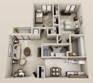 2 bdrm. 2nd floor