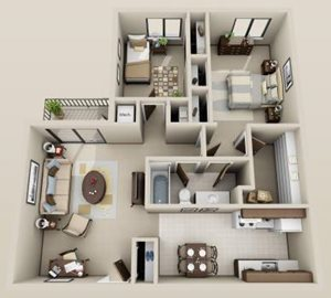 2 bdrm. 1st floor
