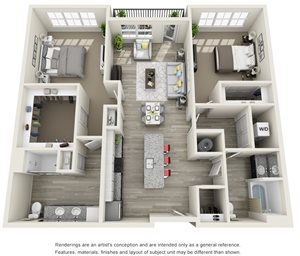 2 Bedroom, 2 Bath 1361 sqft