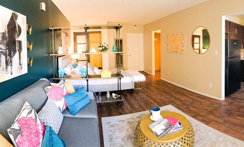 Studio Apartment Layout, Marquee Apts, in North Hollywood, California, 91605