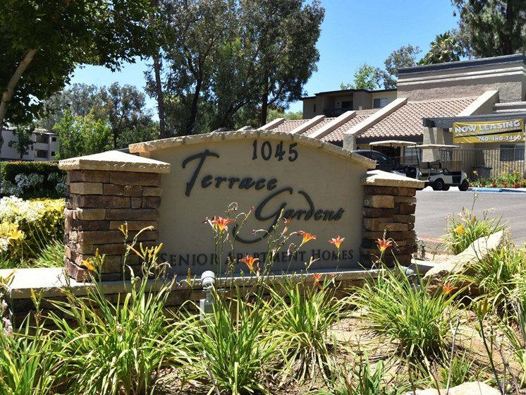 Terrace Gardens Signage 1045 Morning View Drive, CA