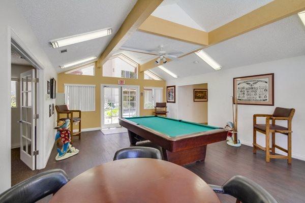 Billiards Room at Terrace Gardens, Escondido, CA