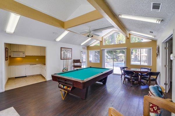 Billiards Room at Terrace Gardens, Escondido,92026