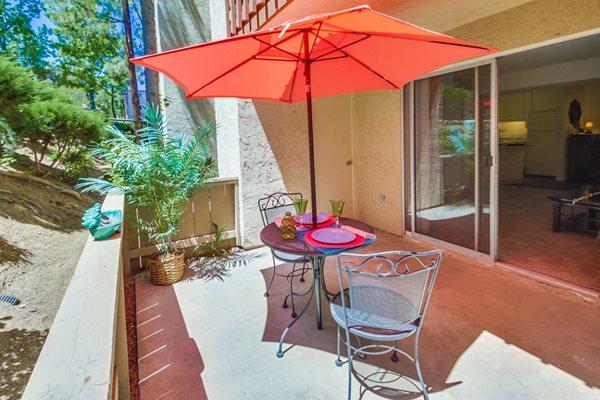 Private Patio, at terrace gardens 55+ apartments escondido