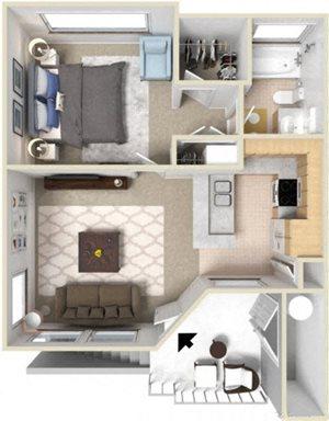 1 Bedroom - Plan A