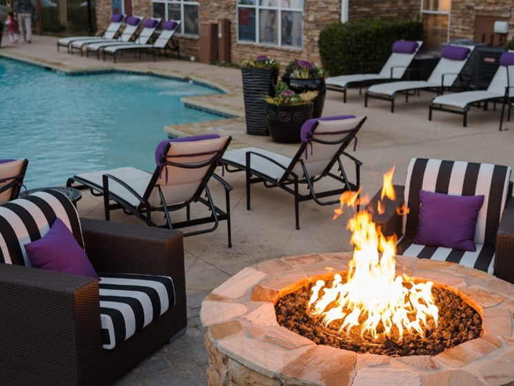 Fire Pit and Pool Picture