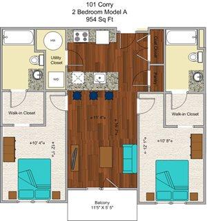 2 Bedroom (model A)