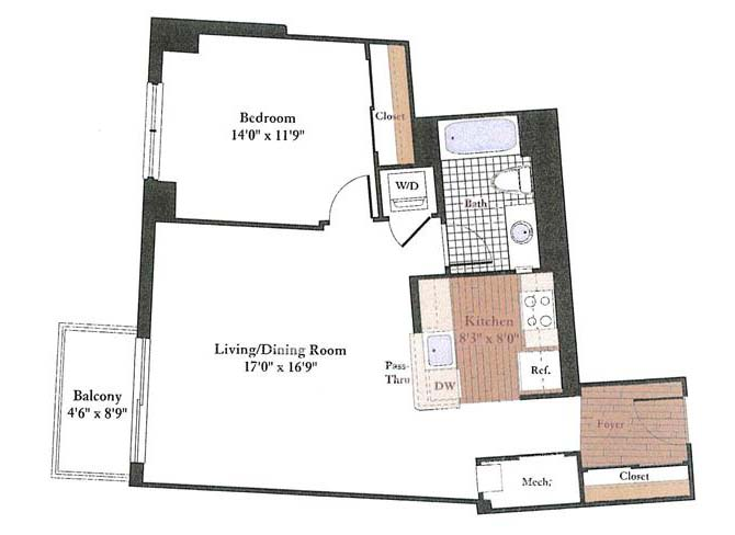 Floor Plans Of Rosedale Park Apartments In Bethesda, MD