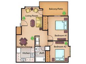 The Cedar floor plan.
