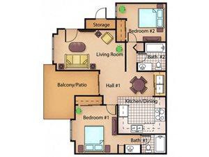 The Maple floor plan.