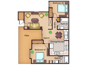 The Oak floor plan.