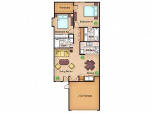 The Redwood floor plan.