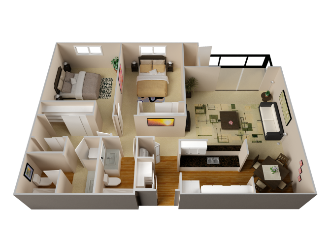 The Cascades floor plan
