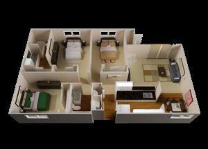 The Oasis floor plan