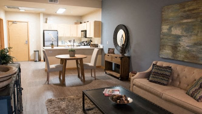 1 Bedroom Living Room l Fremont Mews Apartments in Sacramento CA