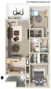 2BD, 2BTH Floor Plan 4