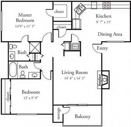 Spacious one and two bedroom apartments in Sacramento for rent