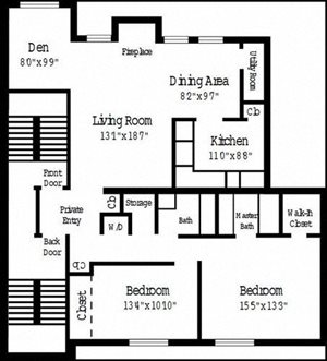 2 Bedroom Deluxe w/ Den