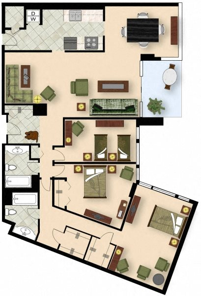 3 Bedroom C1 Floor Plan 10