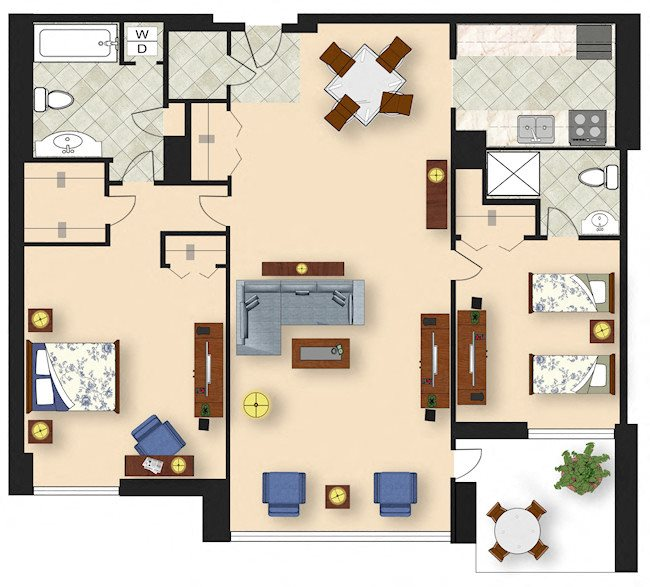 2 Bedroom B2 Floor Plan 8