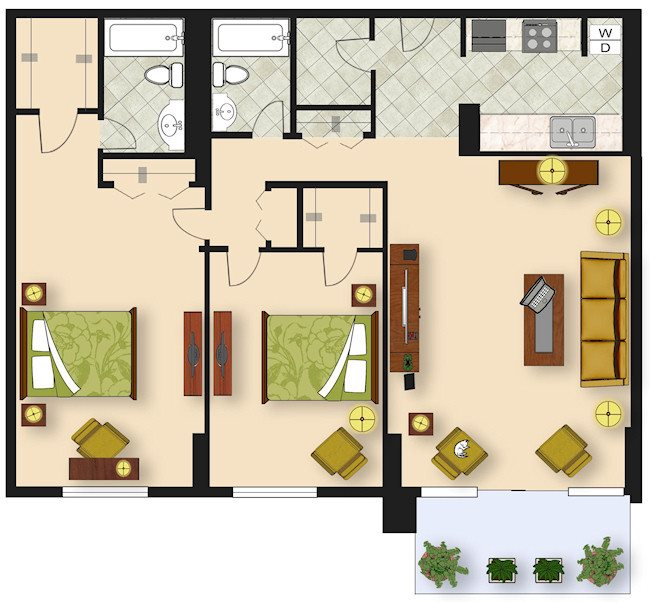 2 Bedroom B3 Floor Plan 9