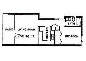 1BD, 1BTH A floor plan