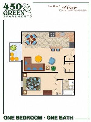 1 Bedroom w/ Balcony