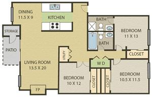 3 Bedroom | 2 Bath