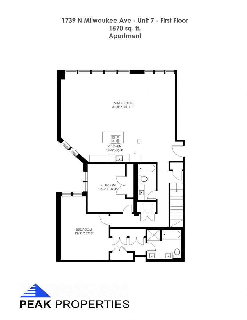 4 Bedroom - 3 Bathroom Duplex