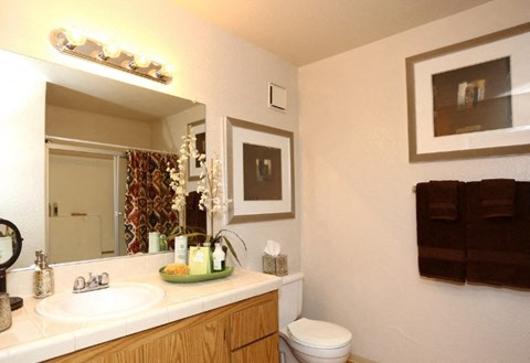 Bathroom at Riverstone apts for rent | Sacramento, CA