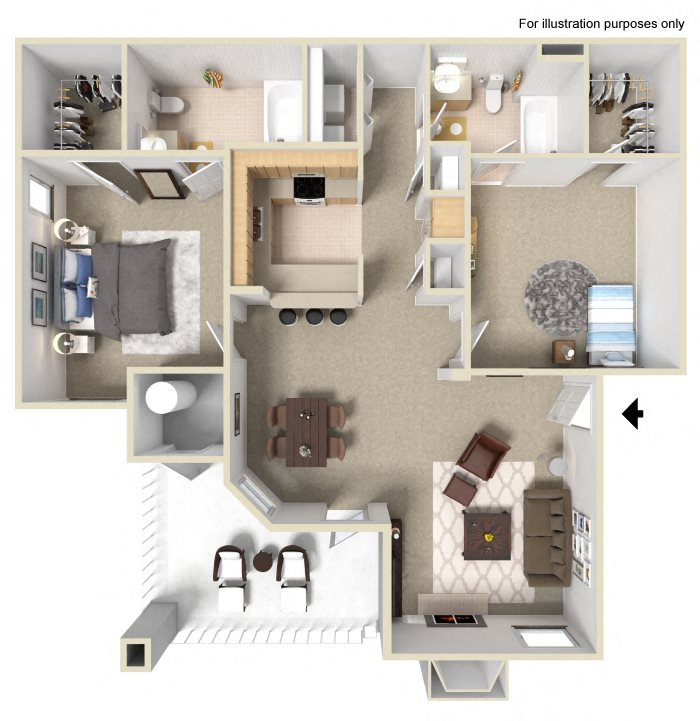 Apartments In Elk Grove, CA L Siena Villas Floor Plans