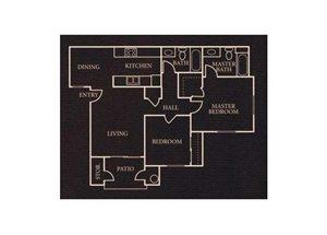 The 2x2 floor plan.