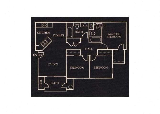The 3X2 floor plan.