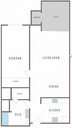 1 Bedroom Junior Floor Plan 1