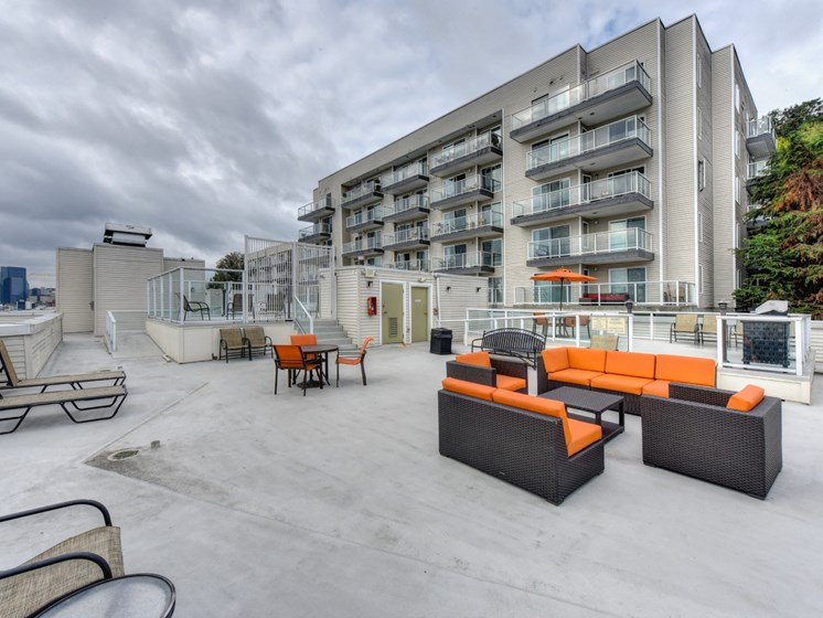 Luxury Apartment Community Rooftop Lounge Area