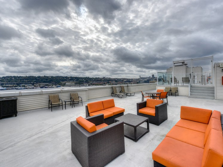 Luxury Apartment Community Rooftop Seating Area