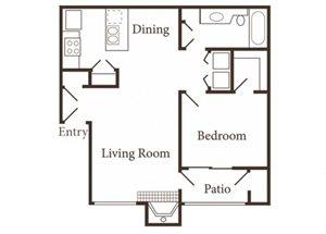 the 1x1 floor plan