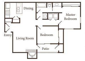 the 2x1 1/4 floor plan