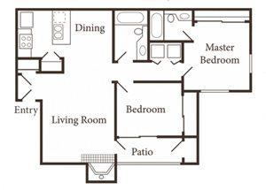 the 2x2 floor plan
