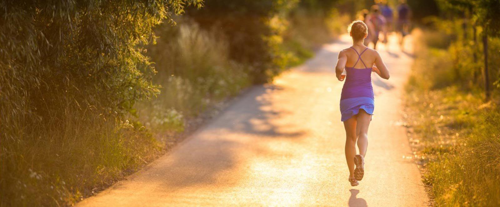 Person Running on Path l Sterling Ranch Apartments El Dorado Hills CA