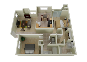 Stonelake Apartments Homes floorplan 1